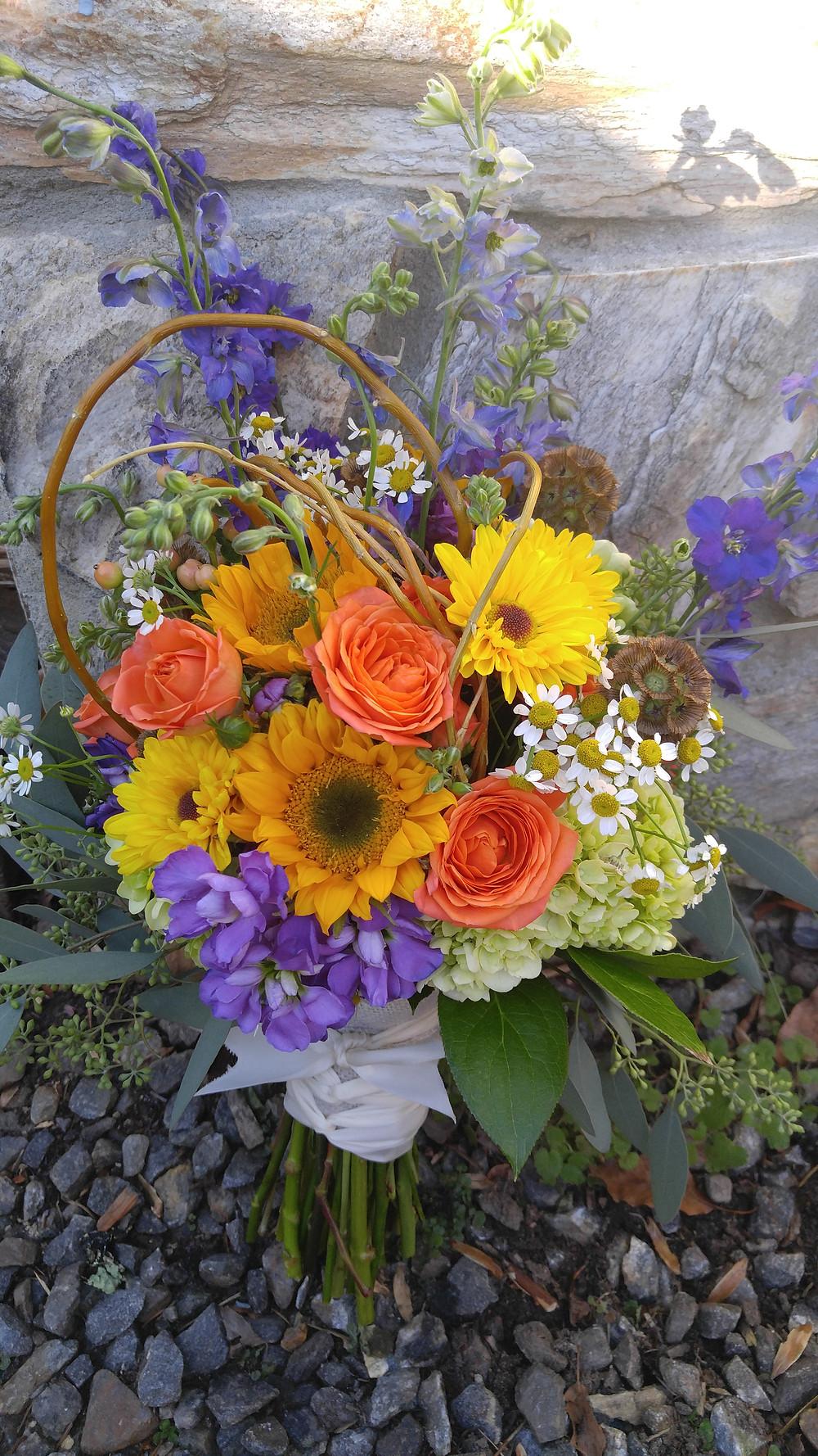 Eco friendly, Wildflower wedding bouquet, McKenzie Botanicals