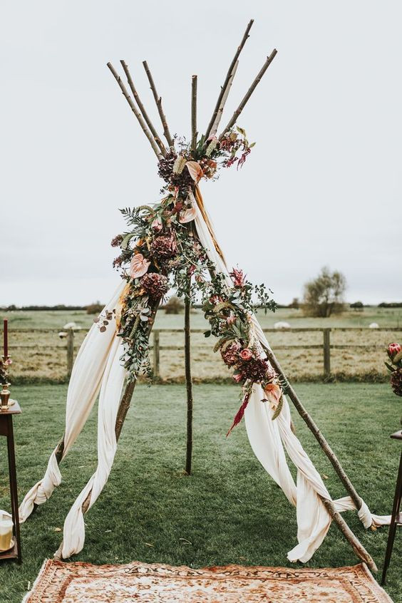 wedding teepee, Unique Wedding rentals, Boho- Chic wedding rental