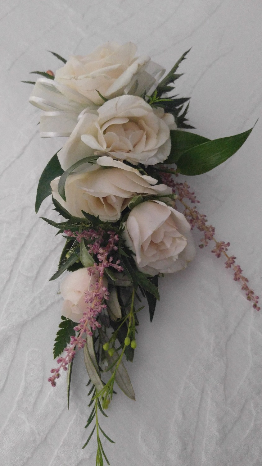 Shoulder Corsage, Mother of the bride, traditional corsage, McKenzie Botanicals