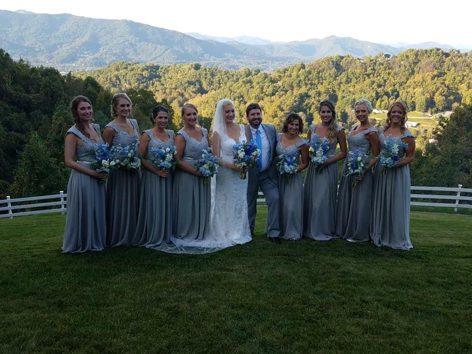Waynesville NC Venue, Bridal Party Package, McKenzie Botanicals