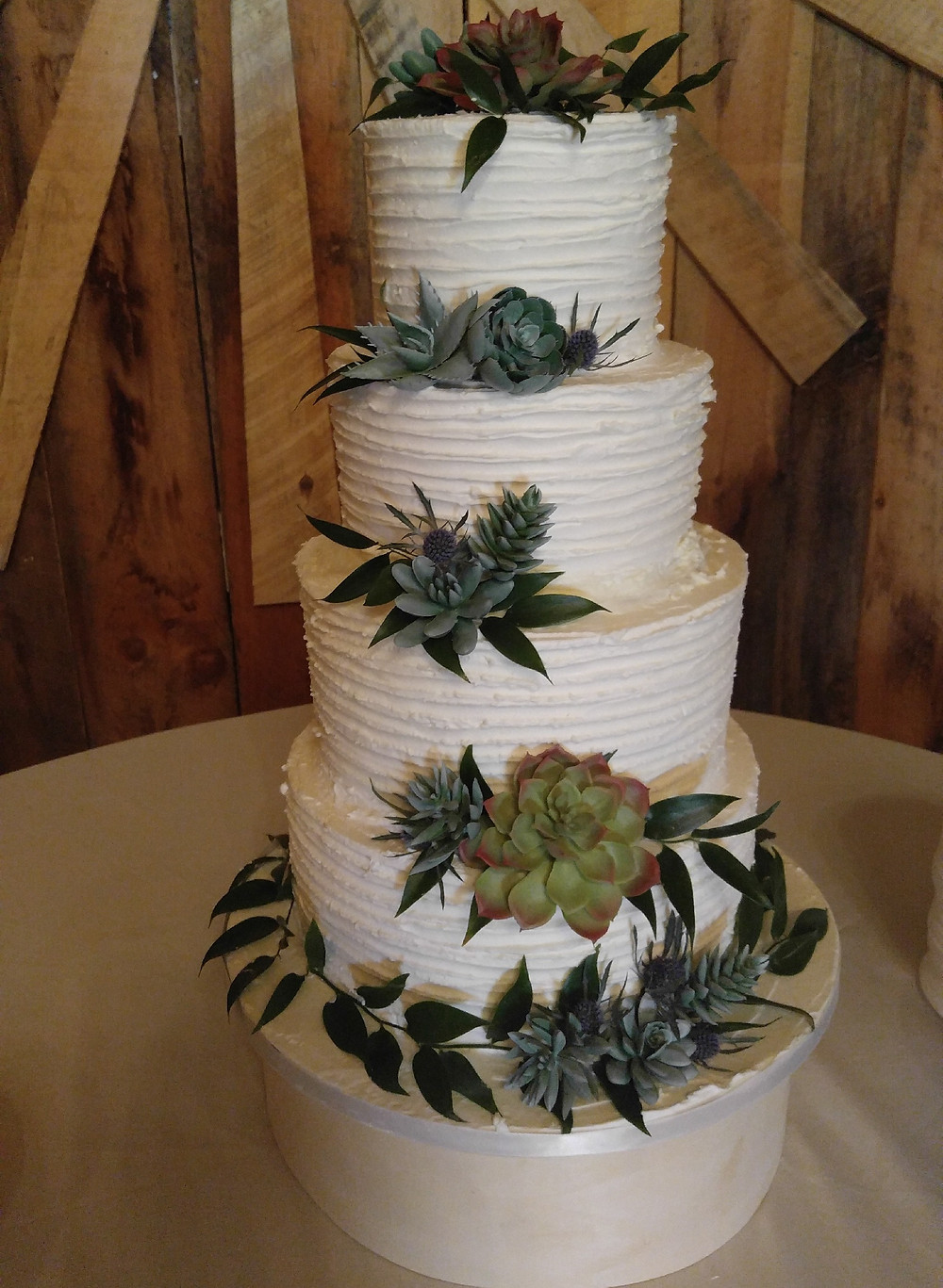 Cake flowers, Cake flower trends, Wedding succulents