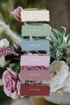 #springcolorpallet, #mutedspringcolors, #weddingchoices