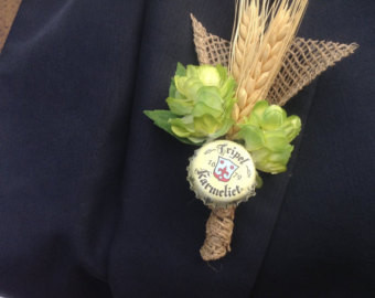 Beer Cap Boutonniere - inspiration Photo