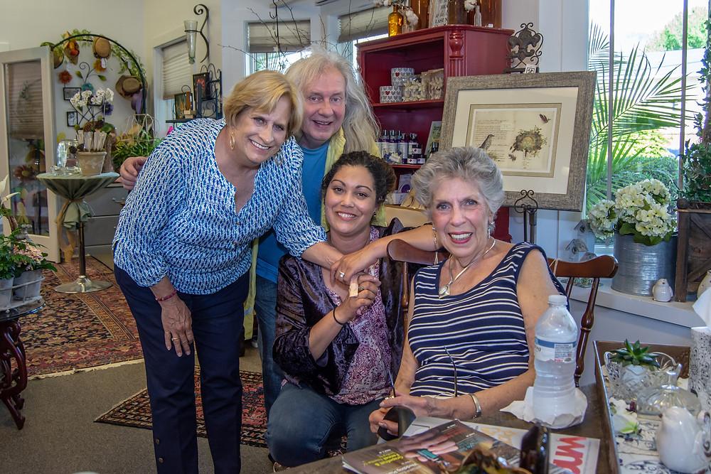 Artist - Ansie Holman Budde with Ed owner of Chateau Debris and Millie McKenzie