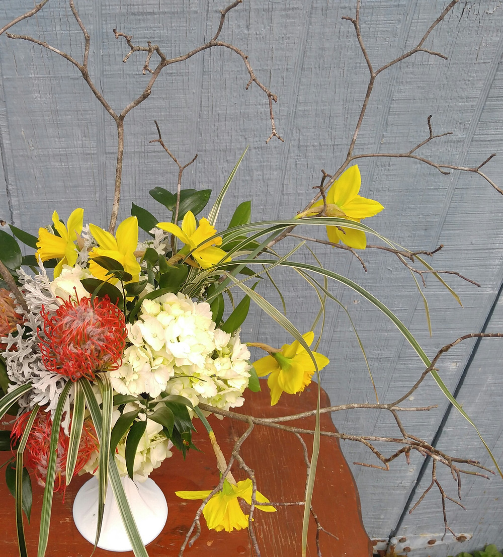 Custom Wedding centerpiece, McKenzie Botanicals, Belk Engagement Party