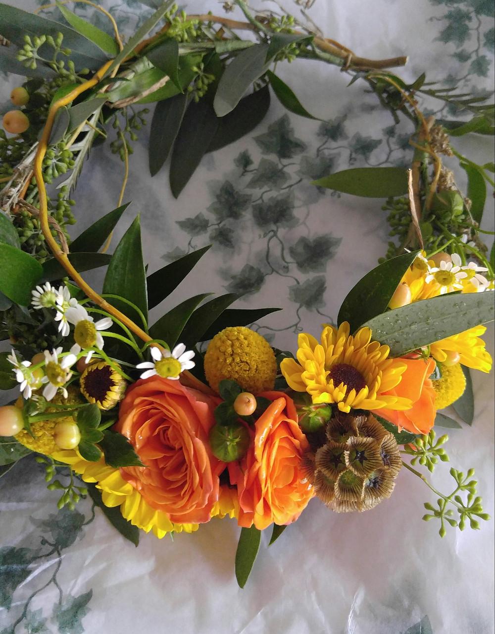 McKenzie Botanicals, Floral Halo, Flowers for hair