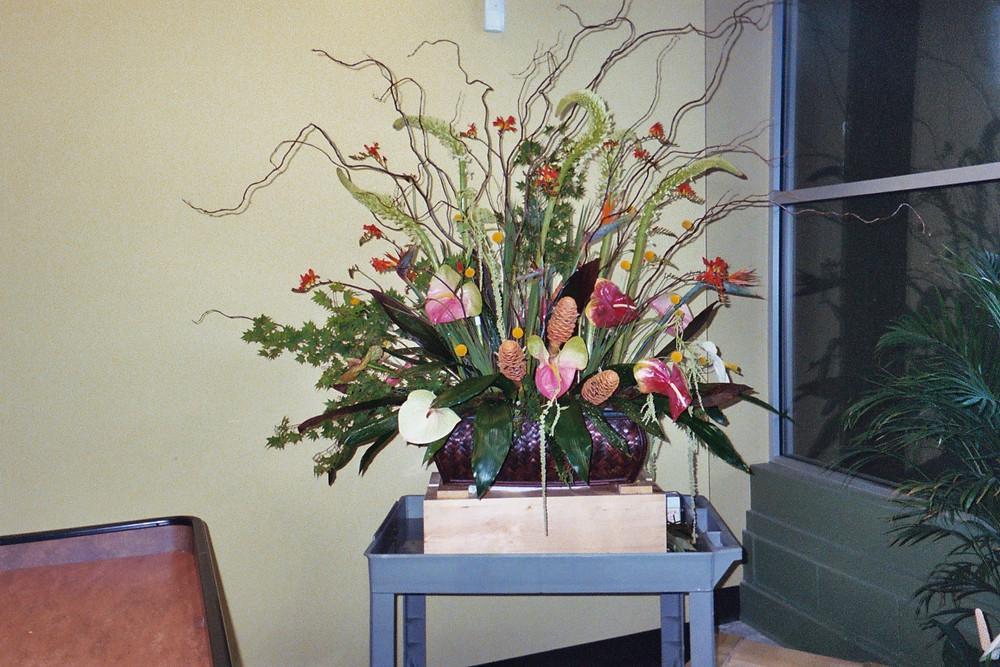 Tropical Centerpiece, Custom floral design, McKenzie Botanicals