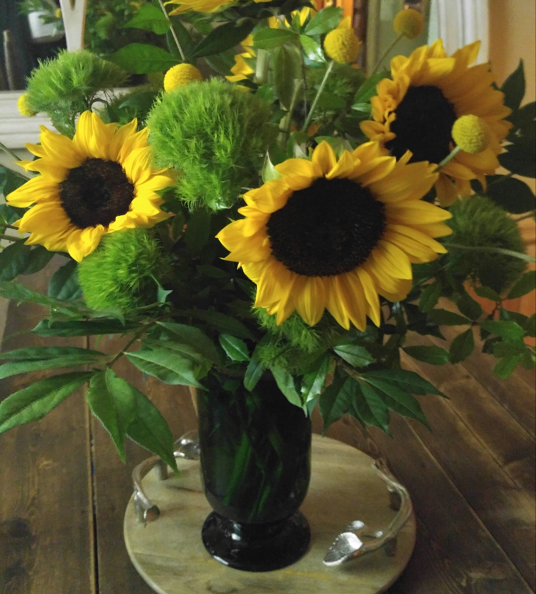 Sunflowers in Vintage Vase