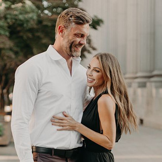 This couple, the city and that natural l