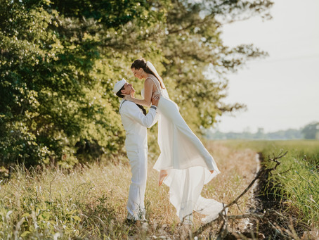 The value in a vendor who values your story: Dance inspired wedding photos for a bride & her sailor!