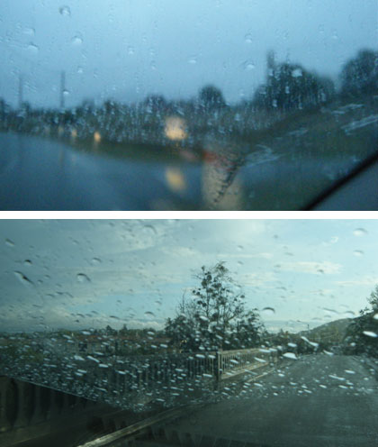 Parfois la pluie s'invite