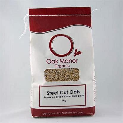 Oak Manor Oats Steel Cut 1kg Bag