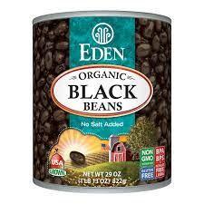 Eden Organic Black Beans 398 ml can
