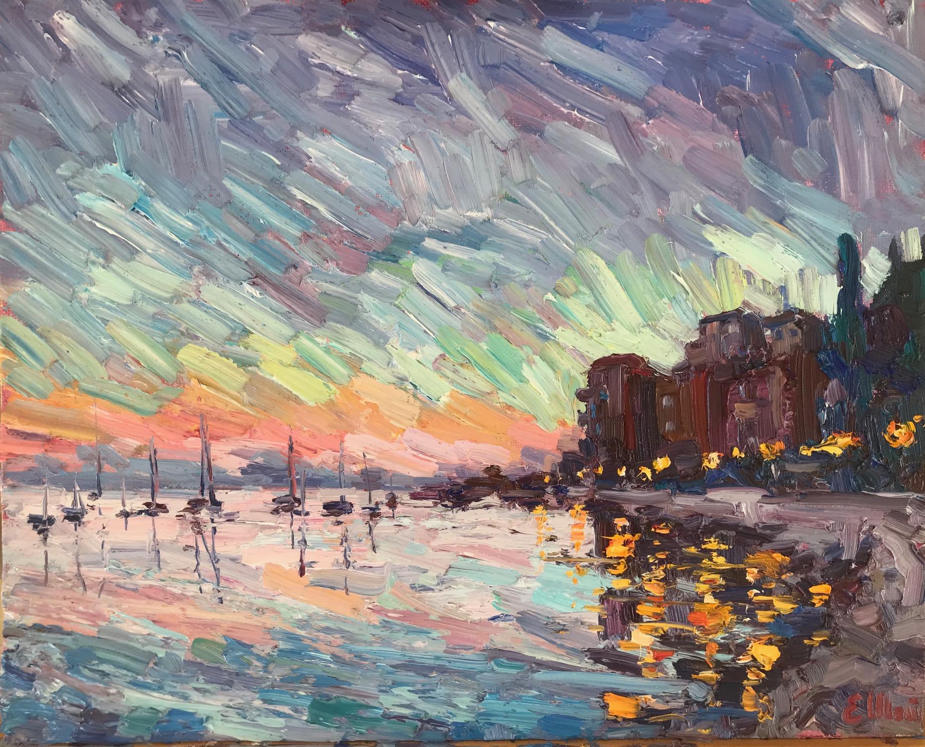 Le soir à la baie de Villefranche