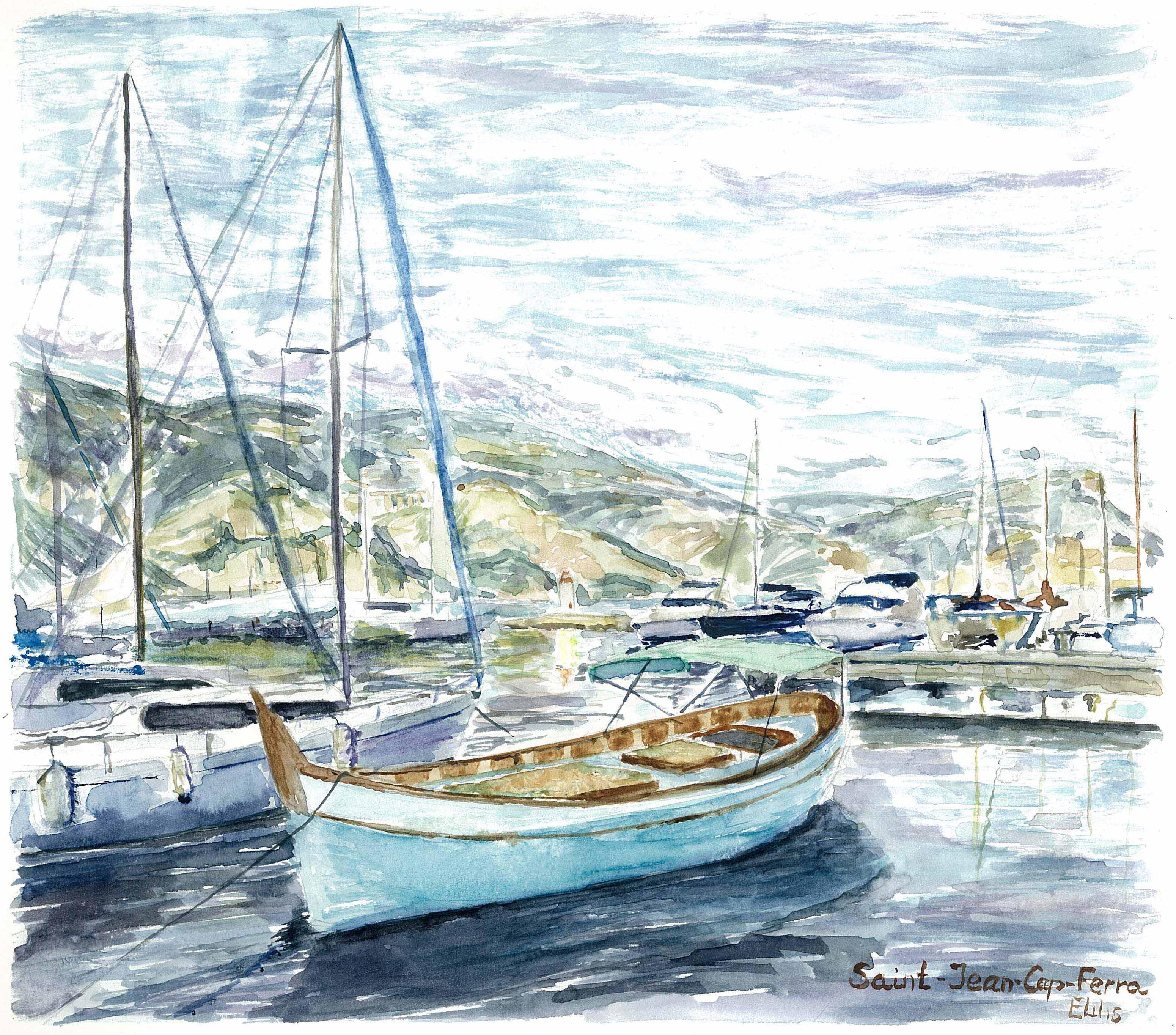 The port of Saint-Jean-Cap-Ferrat