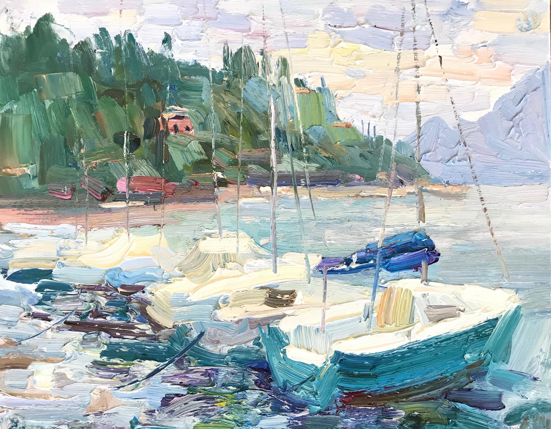 Yachts sur la pluie