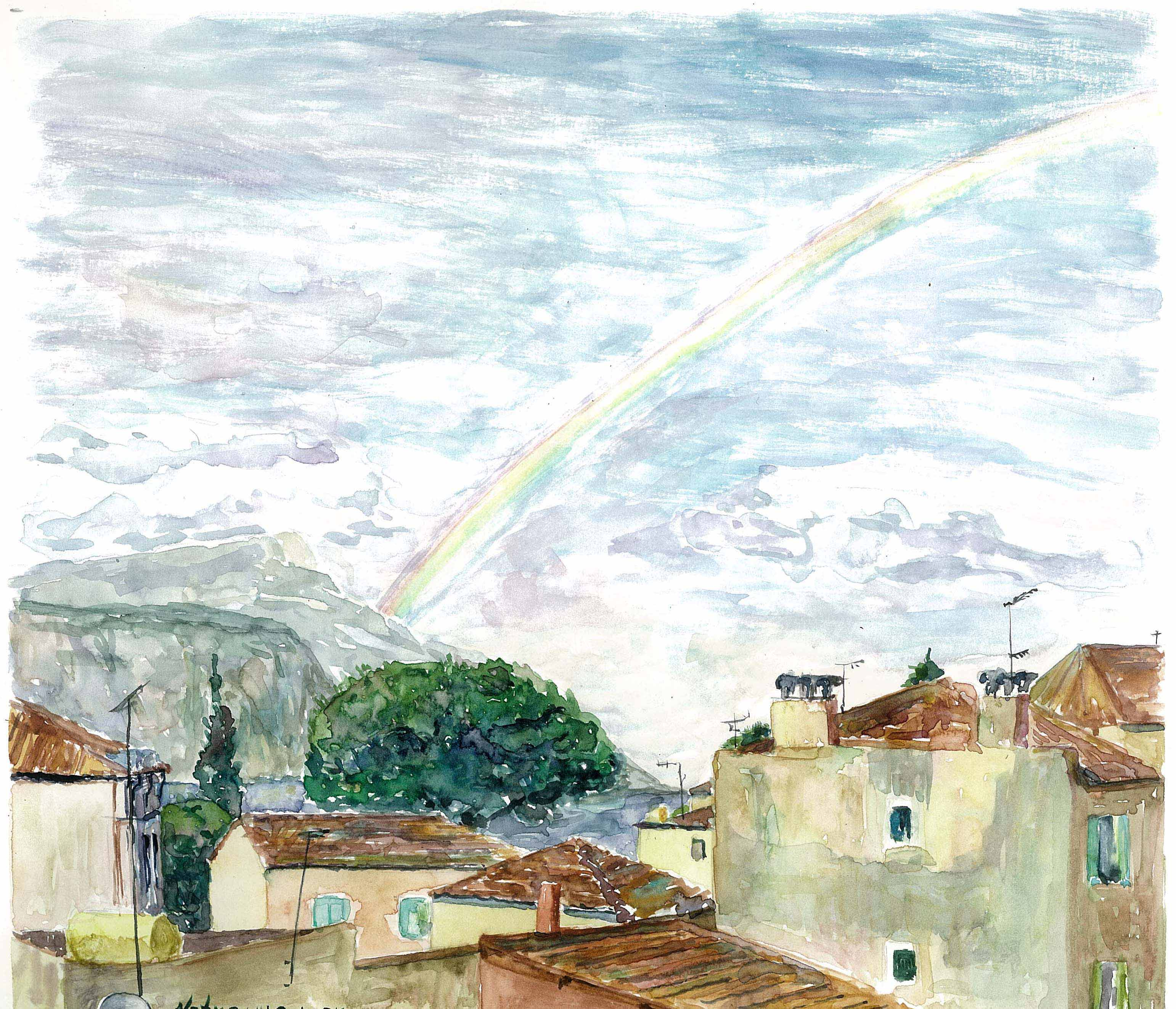 Rainbow in Beaulieu