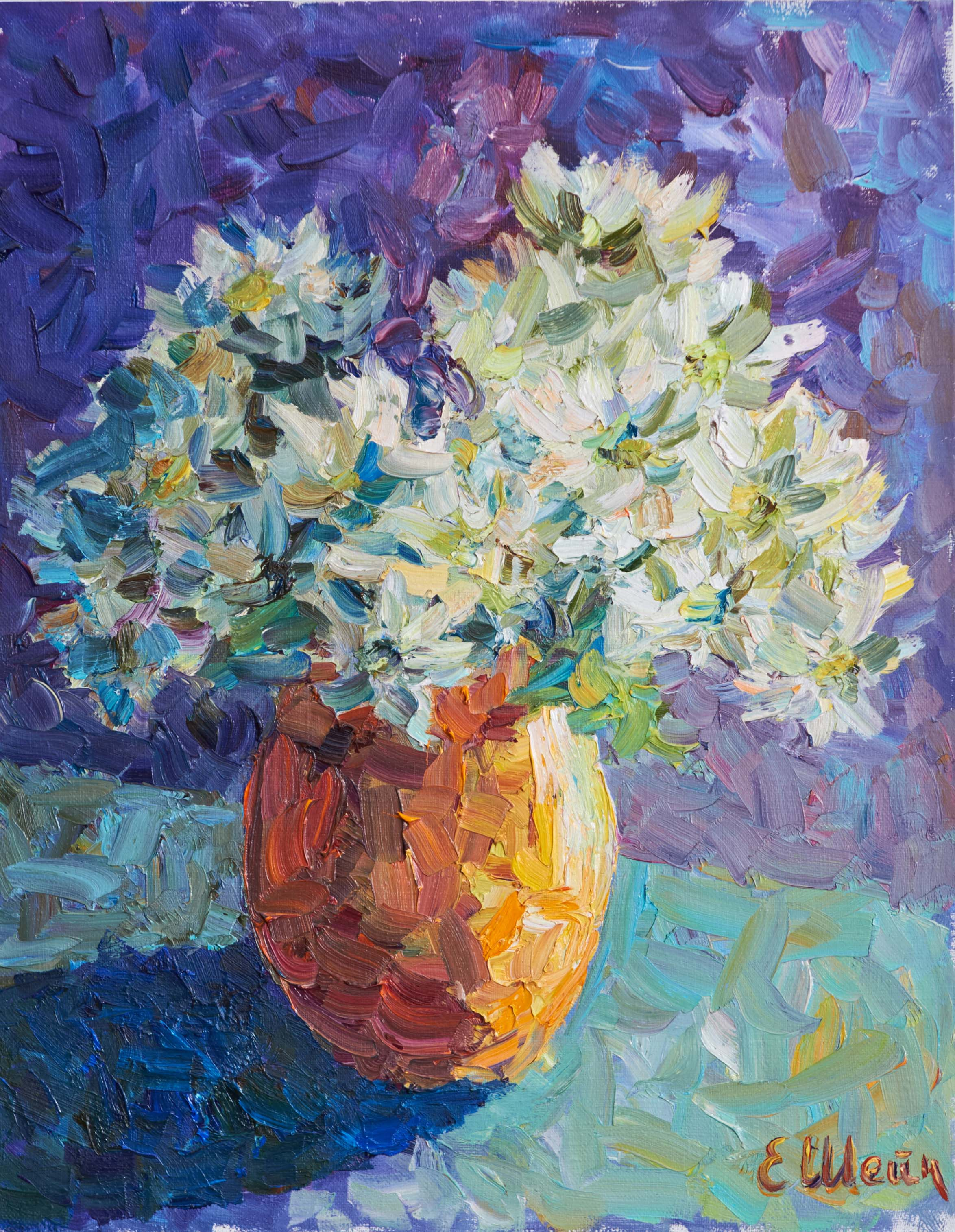 Les chrysanthèmes blancs
