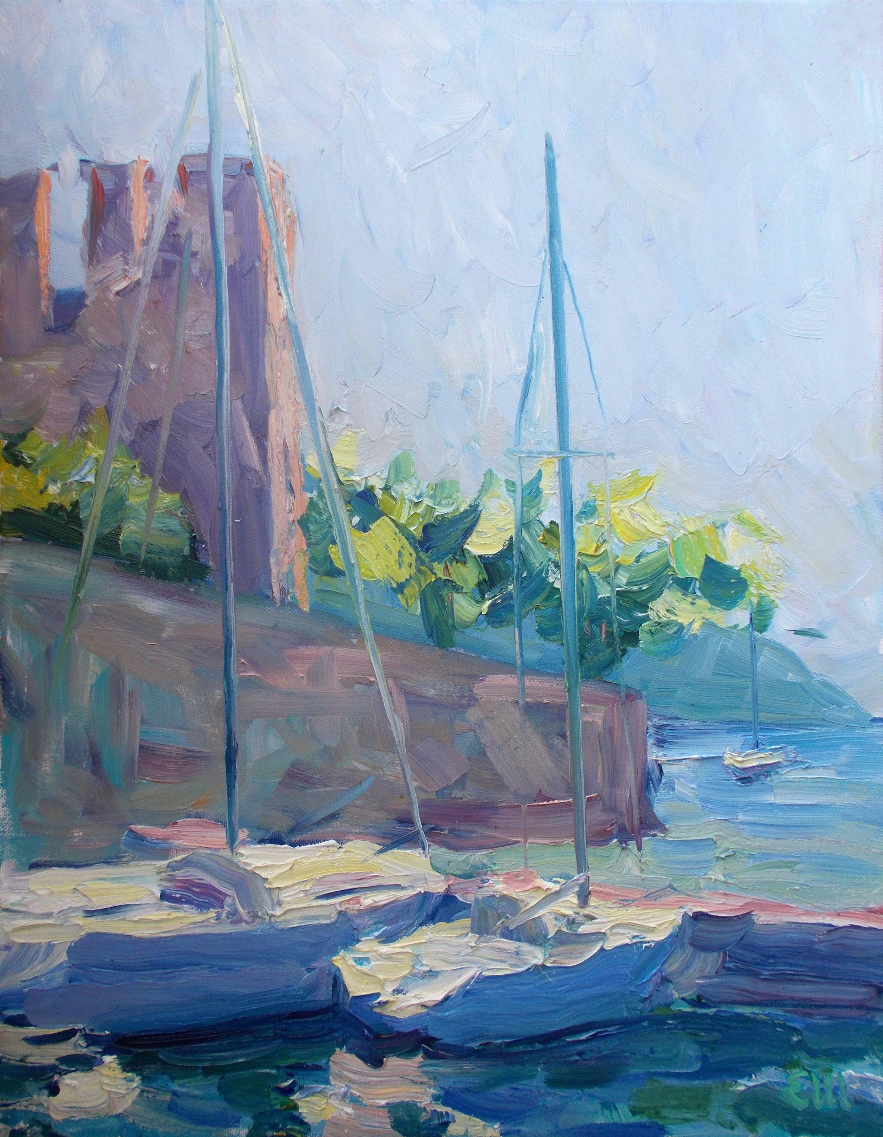 Au port de Torri del Benaco