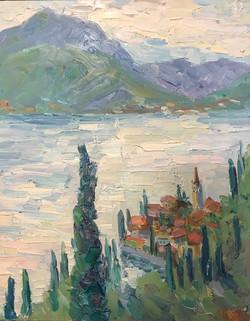 La vue sur Varenna. Le lac Como
