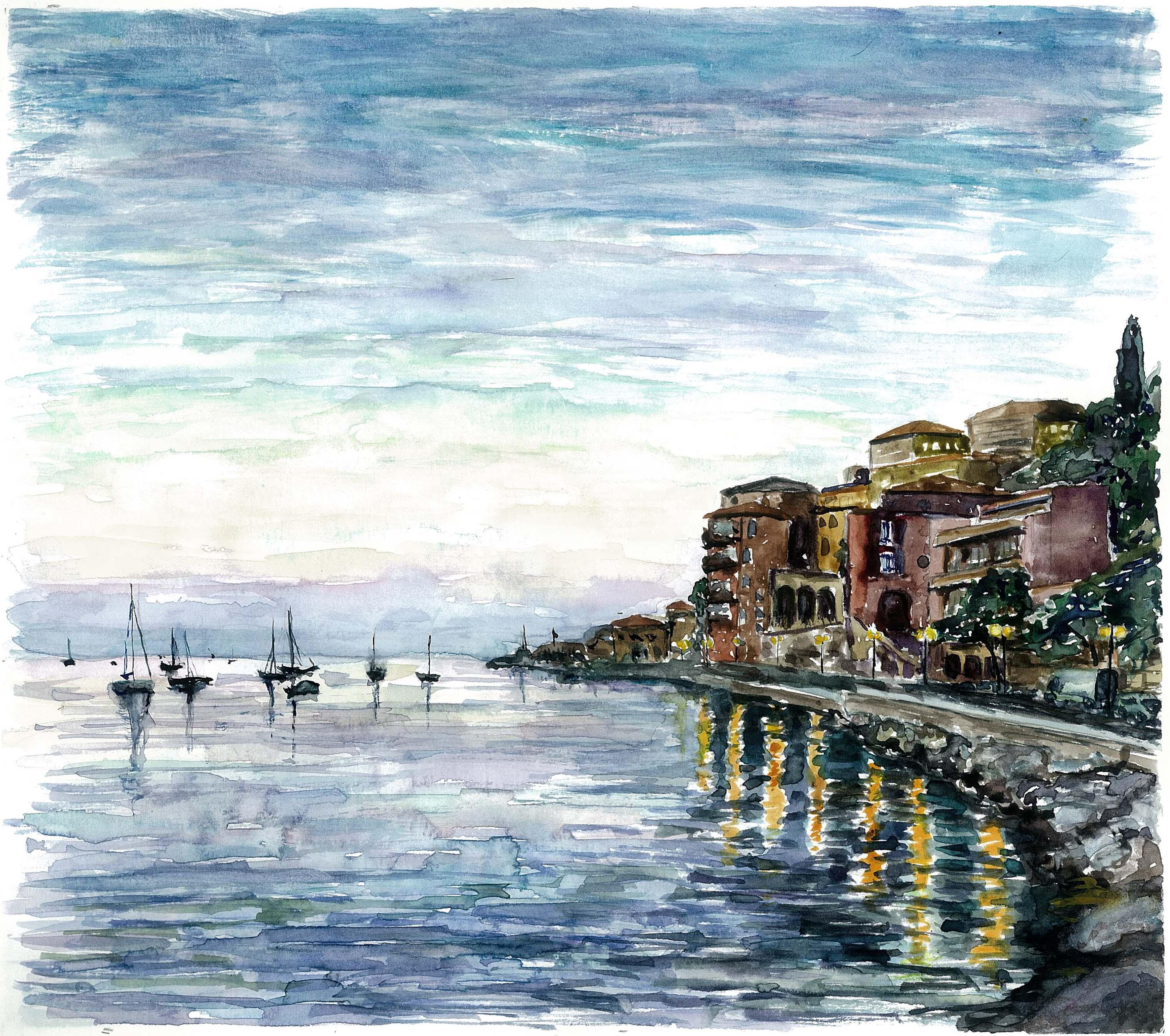 Evening in Vilfranche harbour