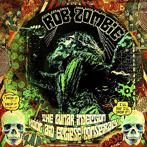 ROB ZOMBIE The Lunar Injection Kool Aid Eclipse Conspiracy (Red White Splatter)