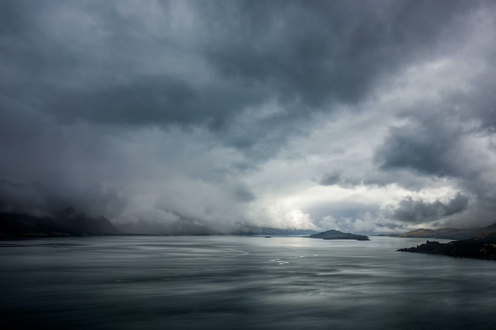 Clouds and stormy seas