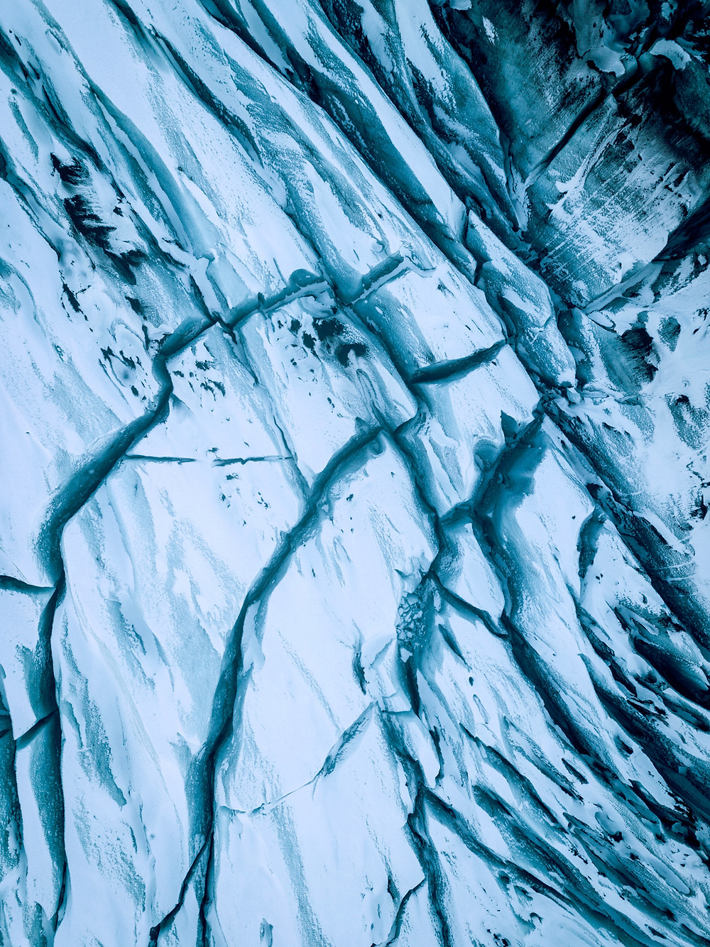 Crevasses in the ice