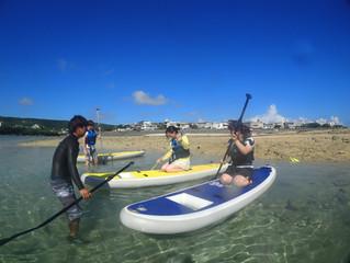 沖縄南部・奧武島にてSUP体験ツアー