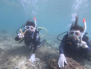 台風が来る前に!沖縄の海を満喫の1日(^O^)~体験ダイビング~