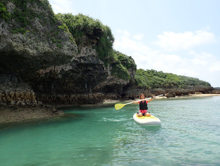 沖縄・那覇の穴場ビーチでSUP♪