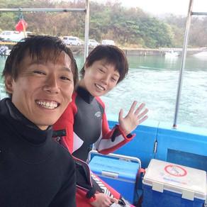 久しぶりの水納島へダイビング