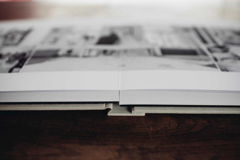 Lay flat binding