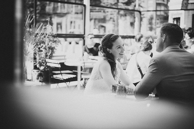 Wim en Heleen trouwen met amy op blijburg ijburg amsterdam