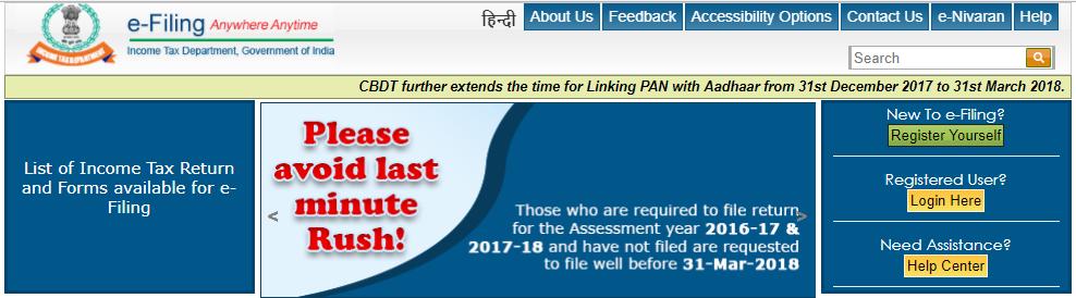 e-filing - Income Tax