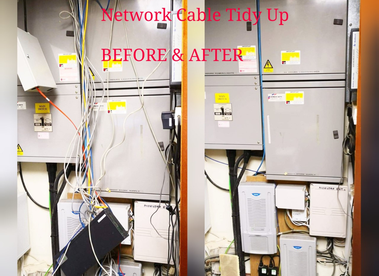 Network Cable Tidy Up in West Sussex