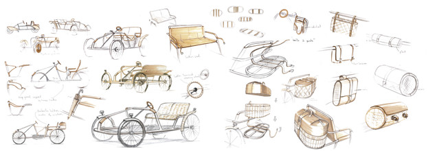 selection of sketches