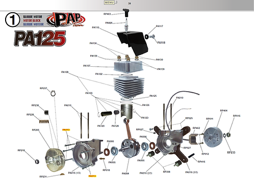 Onderdelen PA125