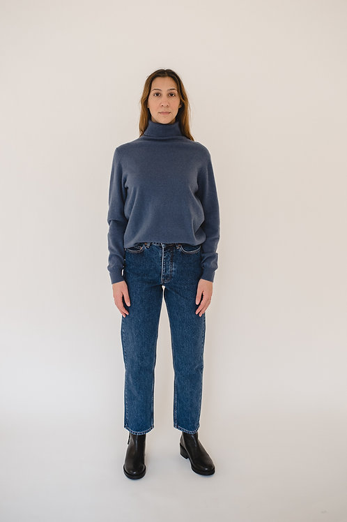 Pullover Turtleneck Blue - ALATE
