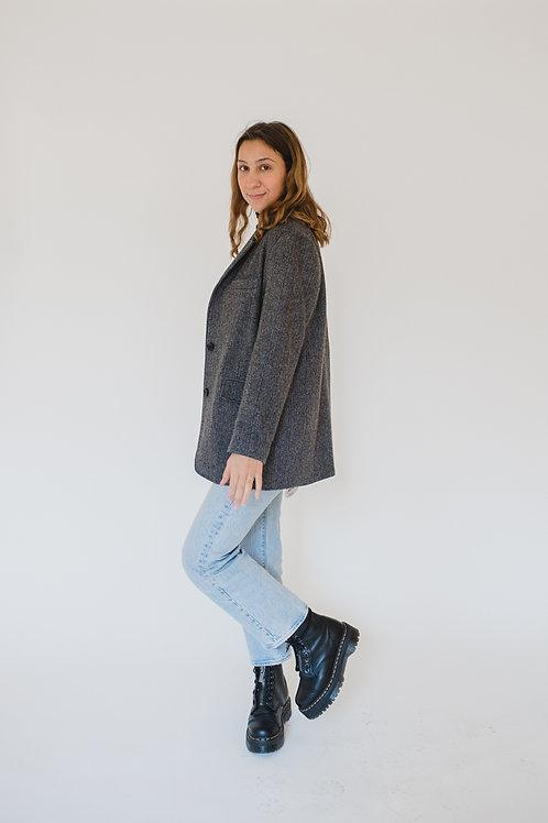 Tailored Fitted Wool Blazer - Cotton Market