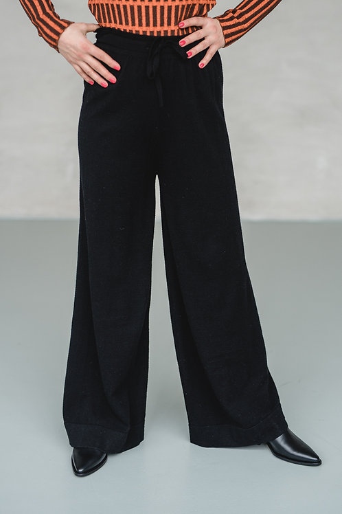 Knit Pants Black - THE HIDDEN