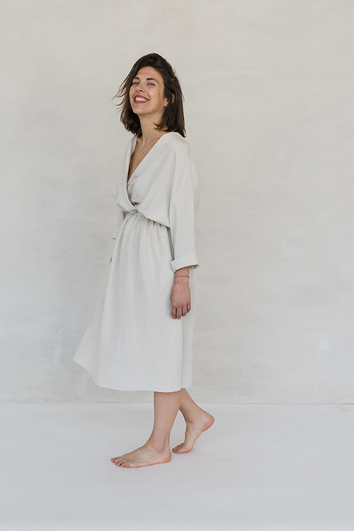 FRIEDA DRESS - OATMEAL