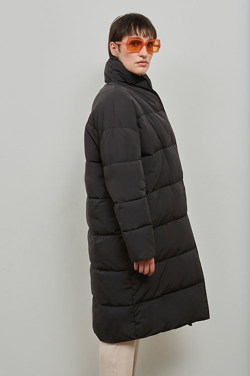 ABERDEEN PUFFER COAT, BLACK - EMBASSY OF BRICKS AND LOGS