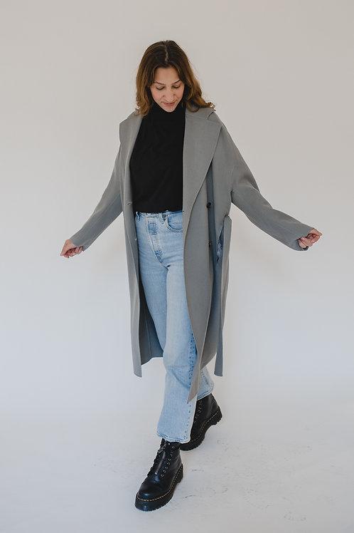 Doublebreasted Wool Coat  Dark Grey - BROWNS