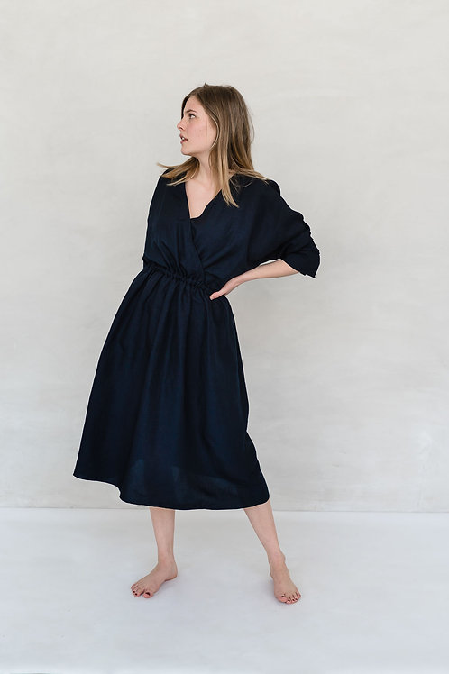 FRIEDA DRESS - DARK NAVY