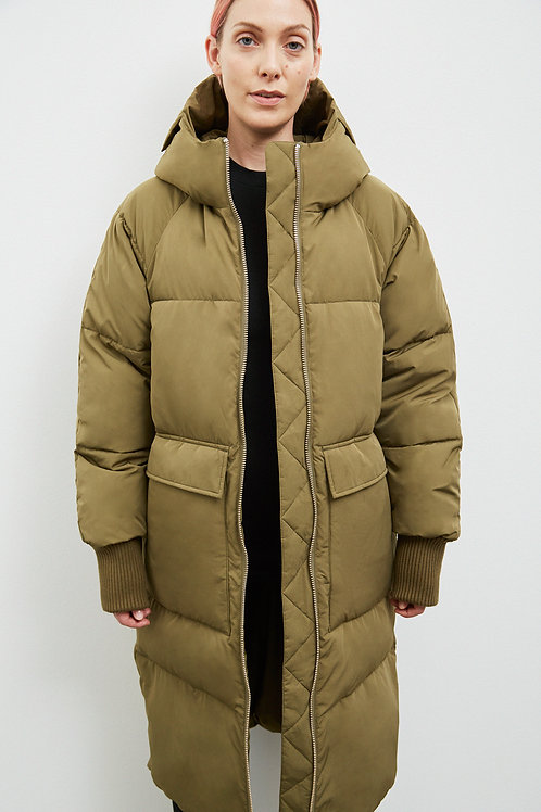 BELFAST PUFFER PARKA, OLIVE - EMBASSY OF BRICKS AND LOGS