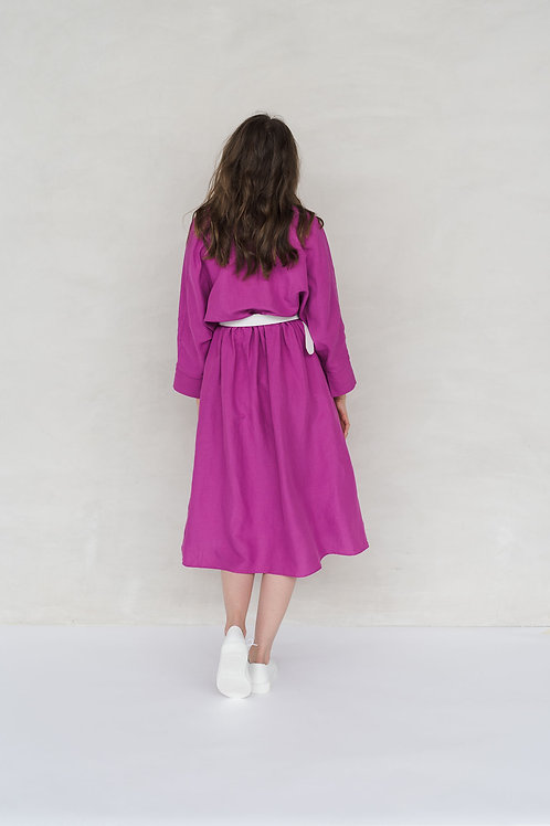 FRIEDA DRESS - FUCHSIA