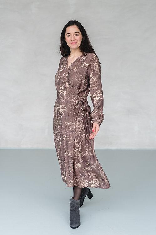 Marbled Dress Mauve/Beige - ALIVE