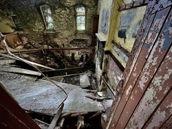Collapsed floors in the Sunday school