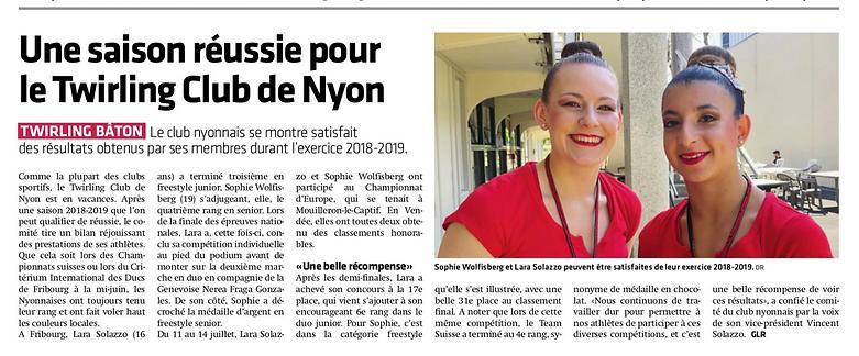 Journal la Côte 30.07.2019